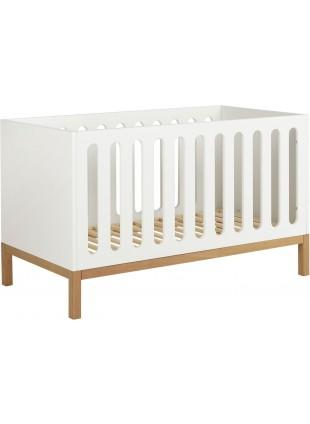 Quax Babybett - Umbaubett Indigo 70x140 cm Weiß