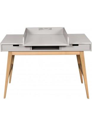 Quax Schreibtisch inkl. Wickelaufsatz Trendy Grau kaufen - Kleine Fabriek