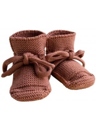 hvid Strick-Babyschuhe Brick kaufen - Kleine Fabriek