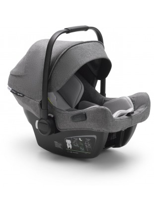 Bugaboo Turtle Air by Nuna Babyschale Grau Melange