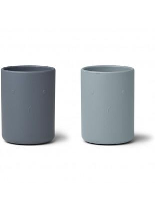 Silikon-Becher Set Ethan Blau von Liewood kaufen - Kleine Fabriek