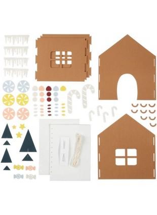Fabelab Minimakers DIY Bastel-Set Filz Lebkuchenhaus