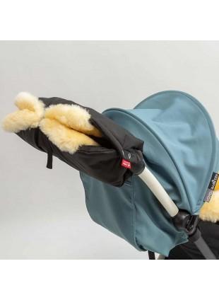 Herr und Frau Klein Kinderwagen-Handmuff Merino Pitchblack kaufen - Kleine Fabriek