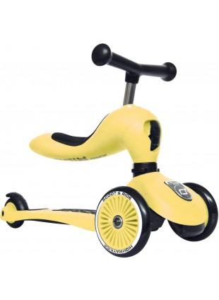 Highwaykick 1 Scoot & Ride 2in1 Laufrad Roller Lemon - Kleine Fabriek