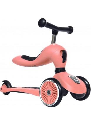 Scoot & Ride 2in1 Laufrad Roller Highwaykick 1 Peach
