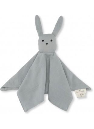 Schmusetuch Sleepy Rabbit French Blue von Konges Sløjd - Kleine Fabriek