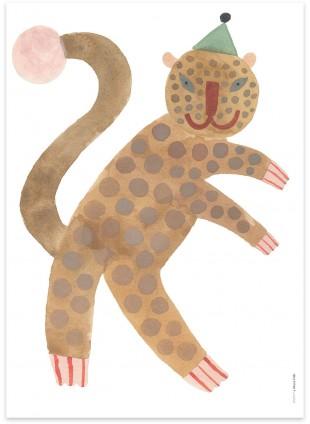OYOY Poster Standing Leopard Elvis kaufen - Kleine Fabriek