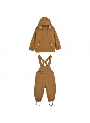Liewood Kinder-Regenanzug Set Dakota Mustard kaufen - Kleine Fabriek