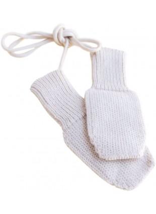 hvid Merino-Fäustlinge Fiza für Babys kaufen - Kleine Fabriek