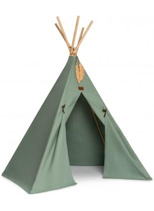 Nobodinoz Pure Line Tipi Spiel-Zelt Nevada Eden Grün - Kleine Fabriek
