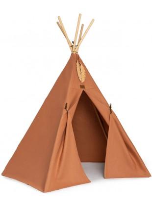Nobodinoz Pure Line Tipi Spiel-Zelt Nevada Sienna Brown kaufen - Kleine Fabriek