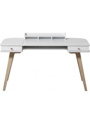 Oliver Furniture Schreibtisch Wood 66 cm Weiß - Eiche