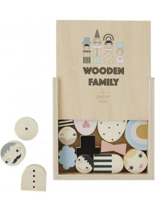 OYOY Spielfiguren Wooden Family Bricks - Kleine Fabriek