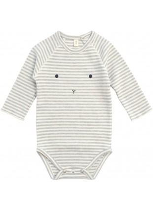 Stripes Hase Baby-Body von Organic Zoo kaufen - Kleine Fabriek