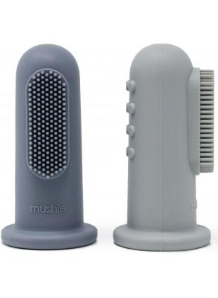 Mushie Finger-Zahnbürste Stone - Tradewinds kaufen - Kleine Fabriek