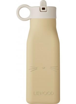 Liewood Silikon Trinkflasche Warren Cat Wheat Yellow