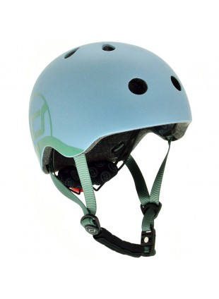 Scoot & Ride Kinder-Fahrradhelm XXS-S Steel