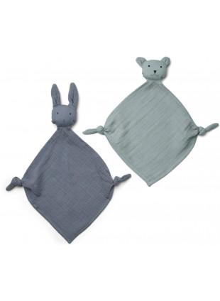 Liewood Baby-Schmusetuch Yoko Blau Mix kaufen - Kleine Fabriek