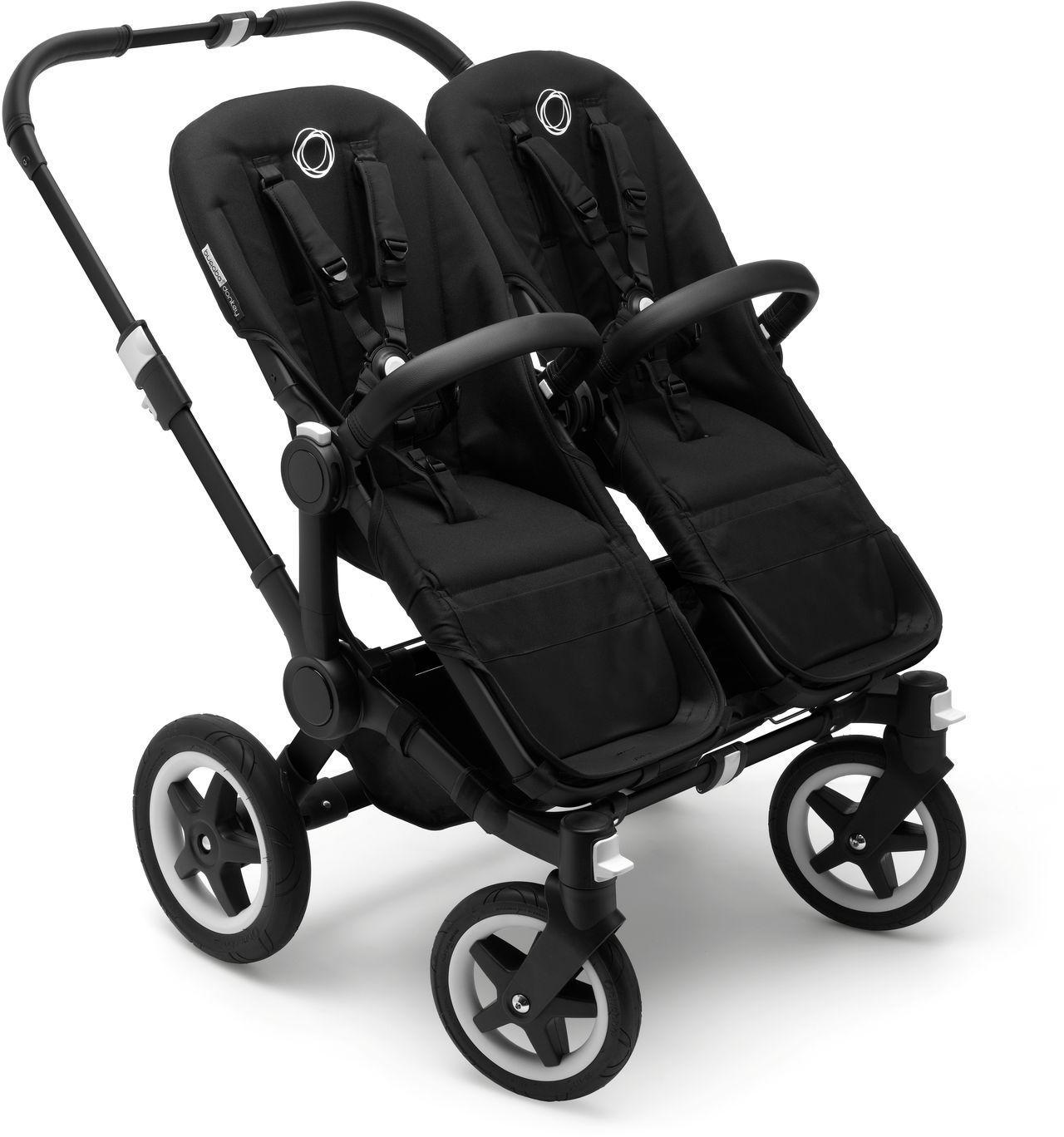 donkey 2 twin kinderwagen set komplett schwarz schwarz bugaboo kleine fabriek. Black Bedroom Furniture Sets. Home Design Ideas