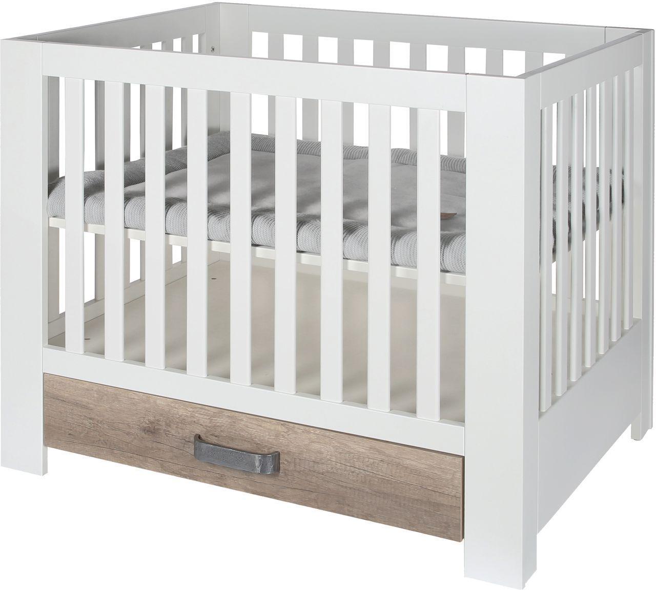 kidsmill laufgitter laufstall costa mit schublade wei natur laufgitter. Black Bedroom Furniture Sets. Home Design Ideas