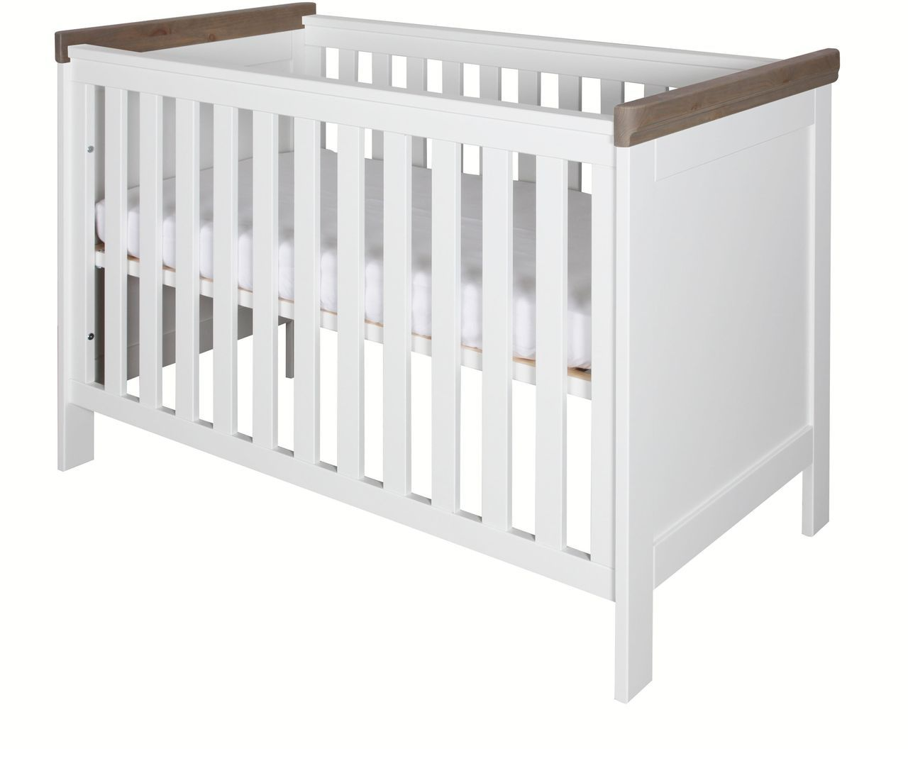 kidsmill babybett savona ohne kreuz 60x120 cm wei grau babybetten kinderzimmerm bel. Black Bedroom Furniture Sets. Home Design Ideas