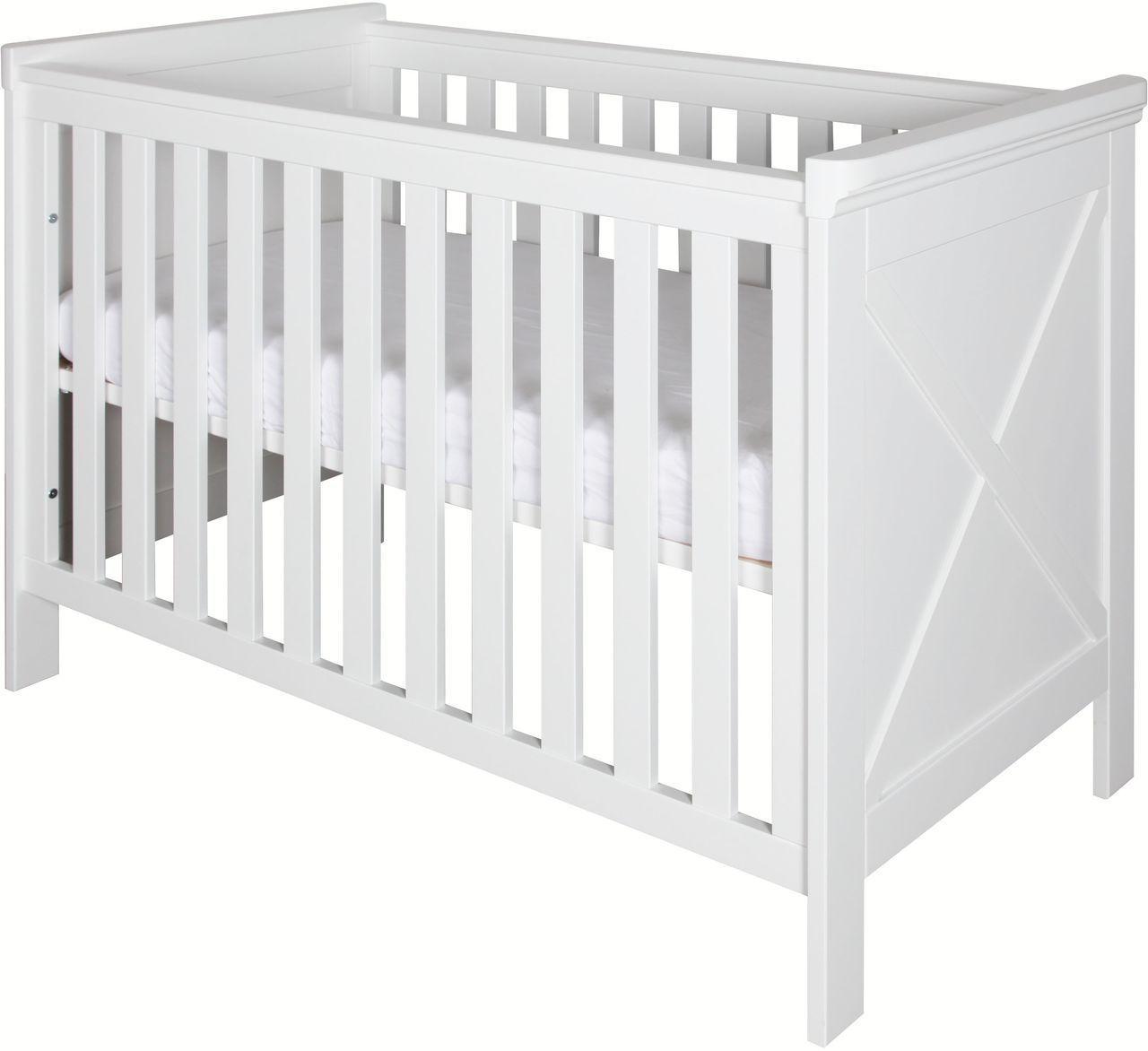 kidsmill babybett savona mit kreuz 60x120 cm wei babybetten kinderzimmerm bel kinderzimmer. Black Bedroom Furniture Sets. Home Design Ideas