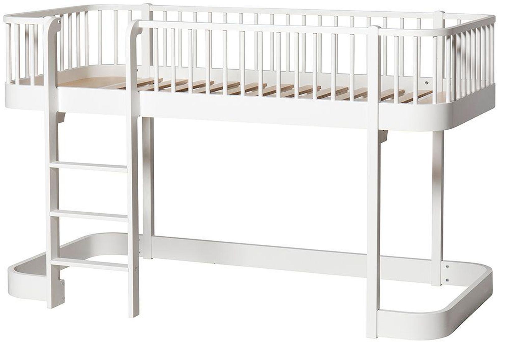 wood halbhohes hochbett oliver furniture kleine fabriek. Black Bedroom Furniture Sets. Home Design Ideas