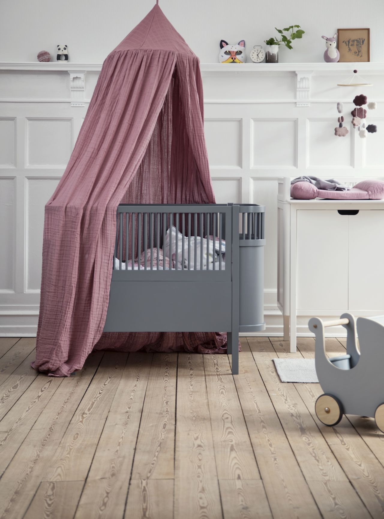 Sebra graues Babybett kaufen - Kleine Fabriek